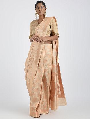 Ivory Benarasi Silk Saree