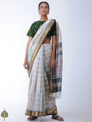 Green Bandhni Cotton Blouse by Jaypore