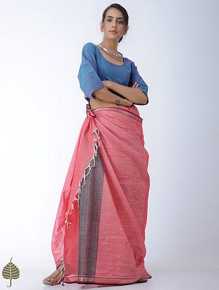 Blue Handloom Cotton Blouse by Jaypore