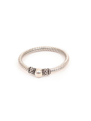 Classic Silver Bangle for Babies