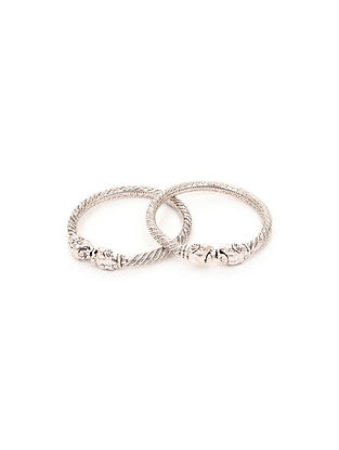 Classic Silver Bangles for Babies (Set of 2)