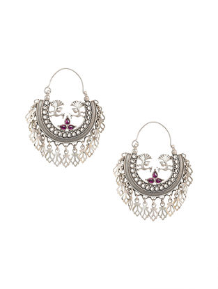 Maroon Tribal Silver Earrings