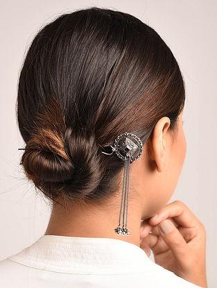Maroon Tribal Silver Hair Pin