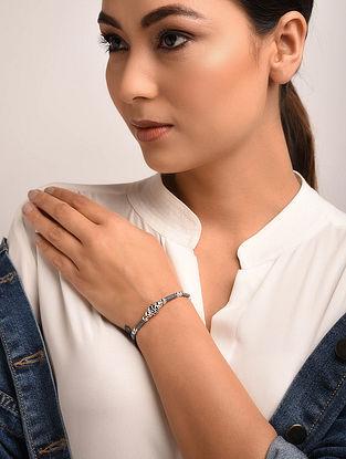 Black Tribal Silver Bracelet