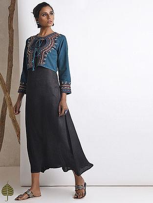 Blue Hand-embroidered Rabari Handloom Cotton Jacket by Jaypore