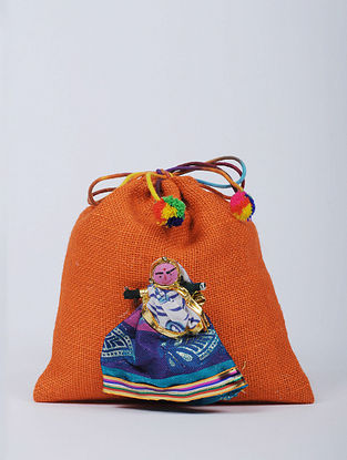 Multicolored Hand made Jute Potli