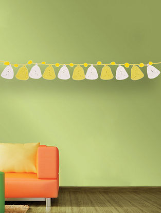 Multicolored Handcrafted Dori Bunting with Bell Design (31.5in x 2.5in)