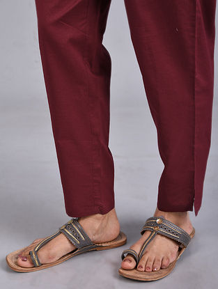 Red Elasticated Waist Cotton Pants
