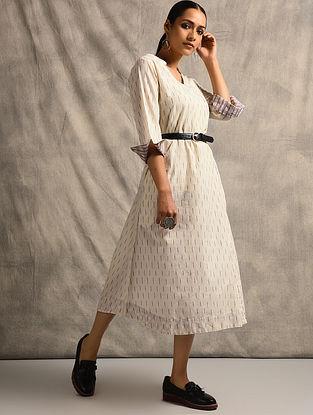Ivory Handloom Ikat Cotton Dress