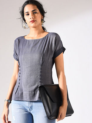 Blue Handloom Cotton Top