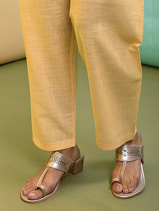 Yellow Tie-up Waist Cotton Pants