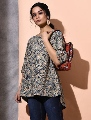 Multicolor Kalamkari-printed Cotton Top
