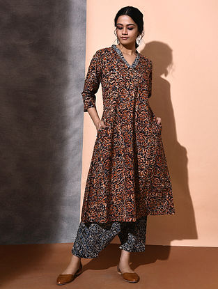Multicolor Kalamkari-printed Cotton Kurta
