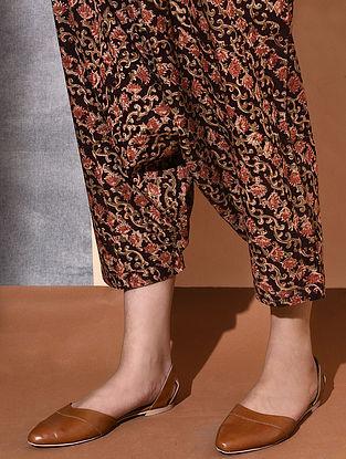 Multicolor Tie-up Waist Kalamkari-printed Cotton Harem