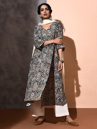 Multicolor Kalamkari-printed Cotton Angrakha