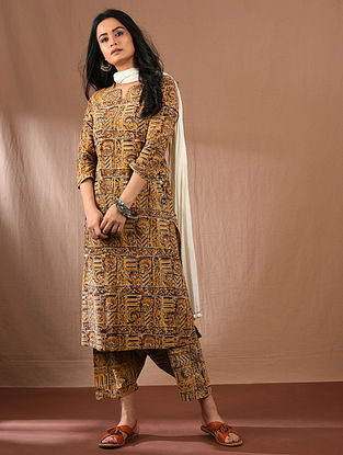 HAASITA - Multicolored Block Printed Kalamkari Cotton Kurta