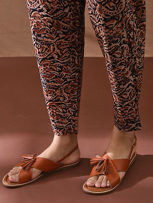SMAYA - Multicolored Elasticated Waist Block Printed Cotton Pant