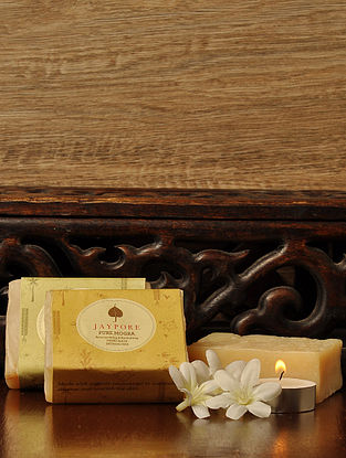 Pure Mogra Hand-Made Soap by Jaypore - 125 gms