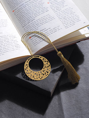 Earring Gold Plated Brass Bookmark