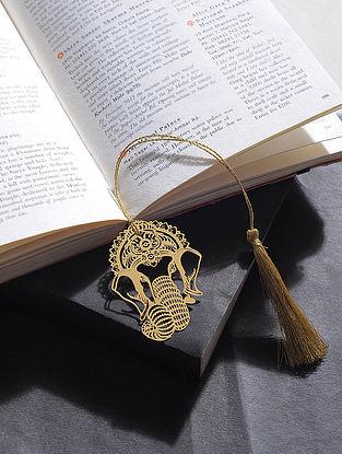 Ganesha Gold Plated Brass Bookmark