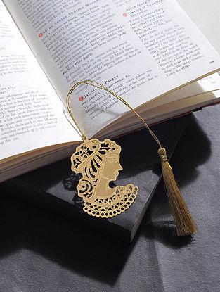 Queen Gold Plated Brass Bookmark