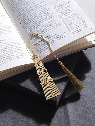 Qutub Minar Gold Plated Brass Bookmark