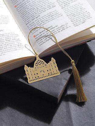 Taj Mahal Gold Plated Brass Bookmark