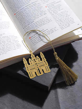 Charminar Gold Plated Brass Bookmark