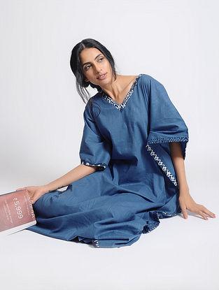 Blue Cotton Kaftan by Jaypore