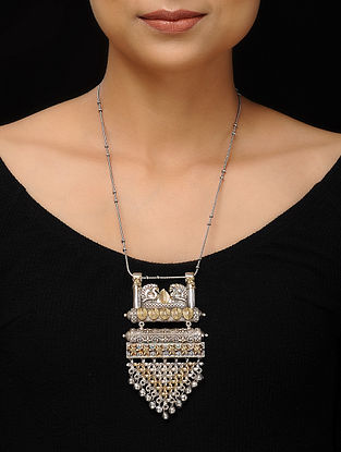 Classic Dual Tone Handcrafted Necklace