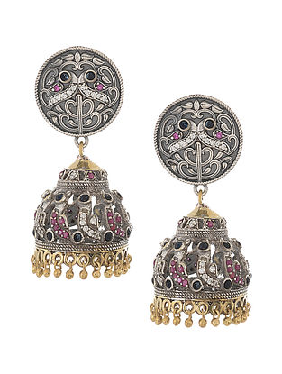 Pink Dual Tone Handcrafted Jhumkis