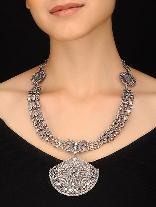 Classic Silver Tone Handcrafted Necklace