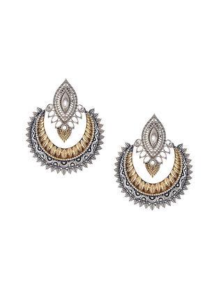Dual Tone Handcrafted Chaandbali Earrings