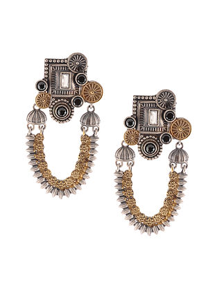 Black Dual Tone Handcrafted Earrings