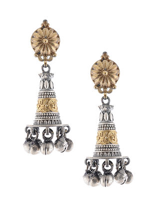 Dual Tone Handcrafted Jhumki Earrings