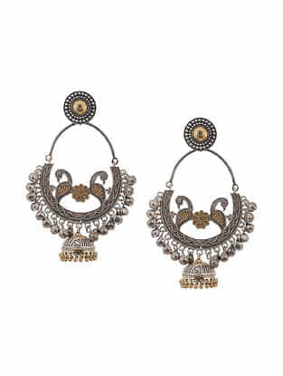 Dual Tone Handcrafted Jhumki Earrings