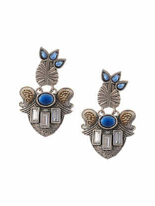 Blue Dual Tone Handcrafted Earings