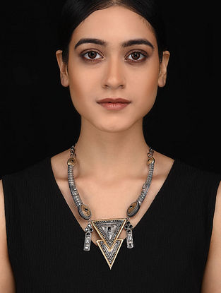 Black Dual Tone Handcrafted Necklace