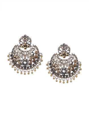 Dual Tone Tribal Chandbali Earrings