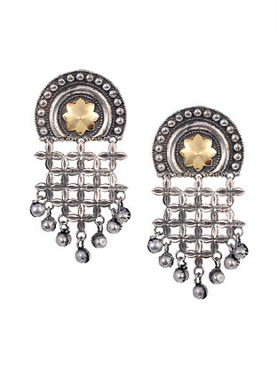 Dual Tone Tribal Earrings