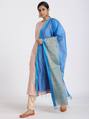 Blue Handloom Maheshwari Dupatta