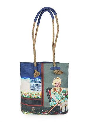 Coffee with Rajasthan Digitally-Printed Jhola with Jute Handle