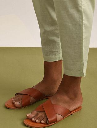 Lime Elasticated Waist Cotton Pants
