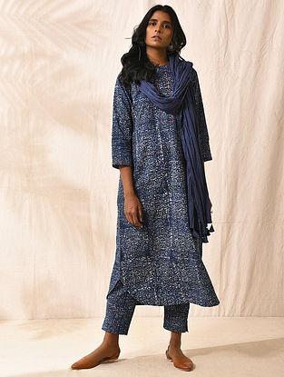 KIRITARJUNIYA - Indigo Dabu-printed Cotton Kurta