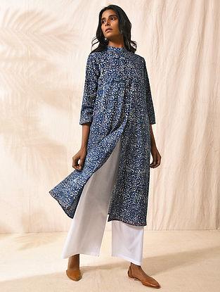 KUMARASAMBHAVA - Indigo Dabu-printed Cotton Kurta