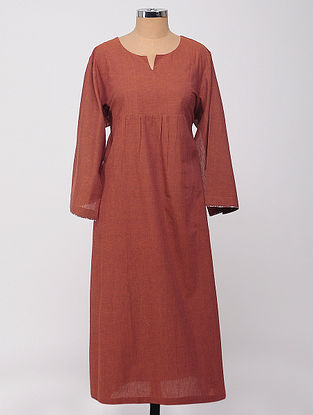 Rust Mangalgiri Cotton Kurta