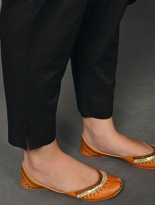 JUODAS - Black Elasticated Waist Cotton Pants