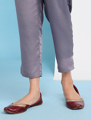 NUROTA - Purple Elasticated Waist Modal Pants