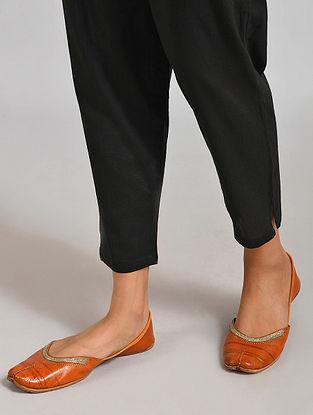 Black Elasticated Waist Cambric Pants
