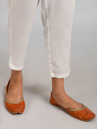 White Elasticated Waist Modal Pants